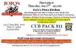 Image for Jojo's Pizza Fundraiser – January 17, 2013