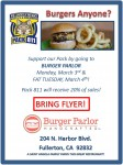 Image for Cub Pack 811 Fundraiser – BURGER PARLOR